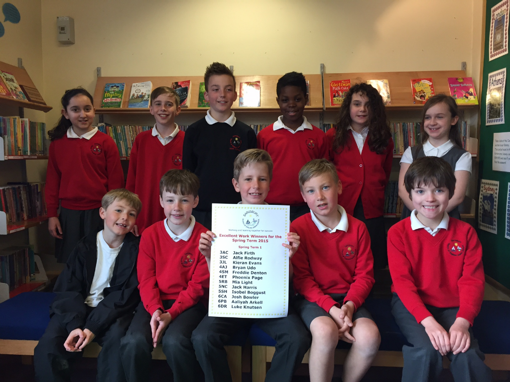 Excellent Work Winners - Spring Term 1