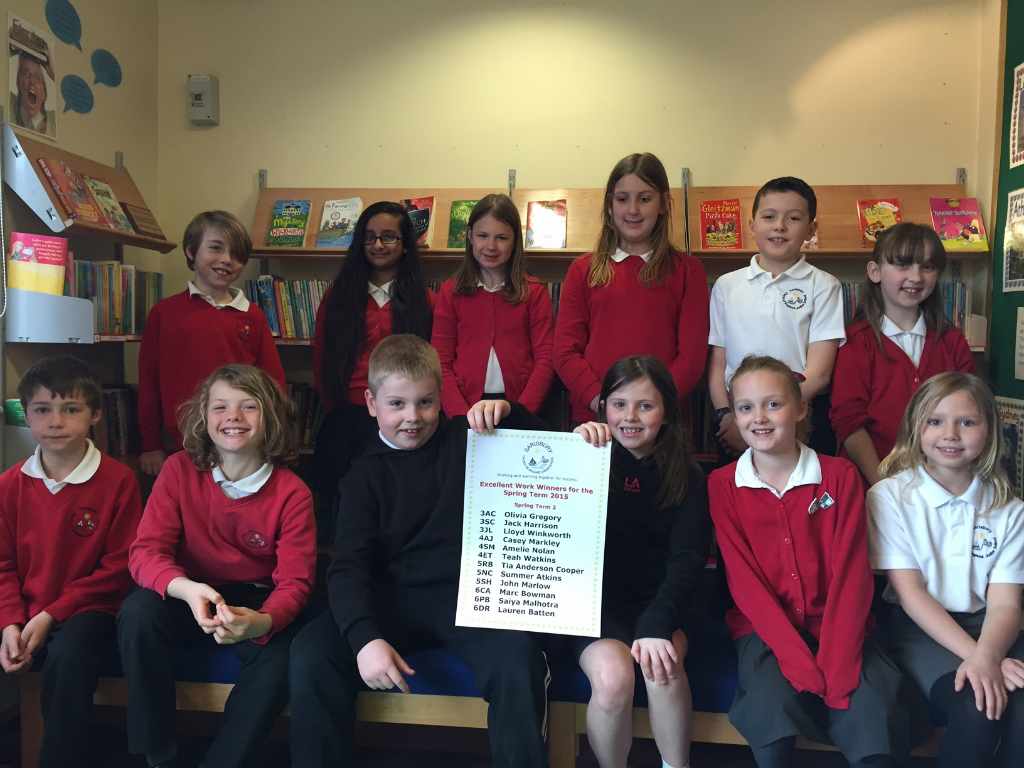 Excellent Work Winners - Spring Term 2